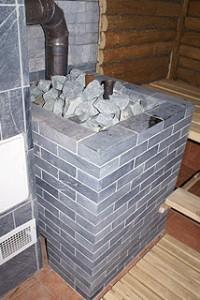 строительство бань, печь для бани